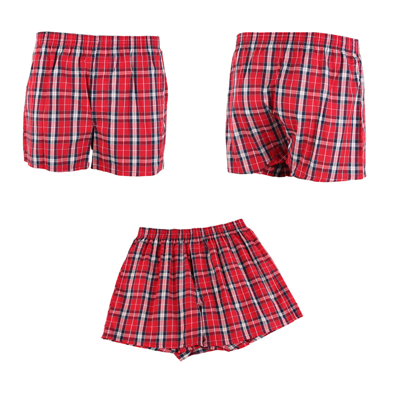 66a2a6a1065a 4 Piece Plaid Cotton Boxers – Colorways – Boxers and Briefs Online
